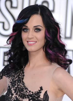 Katy Perry Colored Hair Extensions